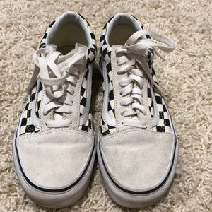 Vans shoes white with checkers